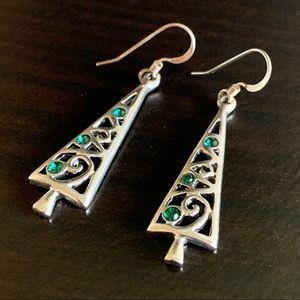 Jewelry - • NWOT! Sterling Silver Tree Earrings •